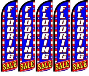 Bakery King Swooper Feather Flag Sign Pack of 10 Hardware not Included